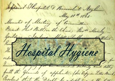 Just a minute in 1865:  Hospital Hygiene