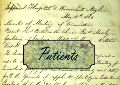 Just a minute in 1865:  Patients