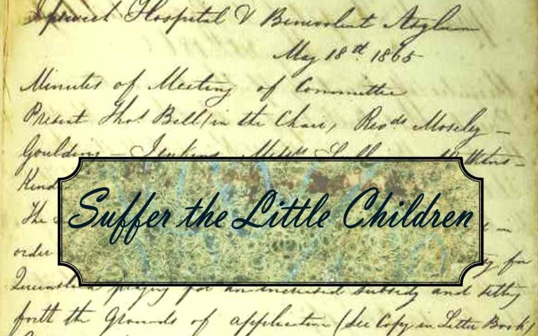 Just a minute in 1865:  Suffer the Little Children