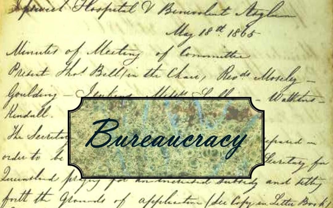 Just a minute in 1865:  Bureaucracy