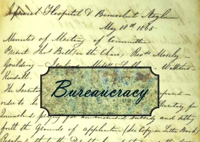 Just a minute in 1865:  Bureaucracy