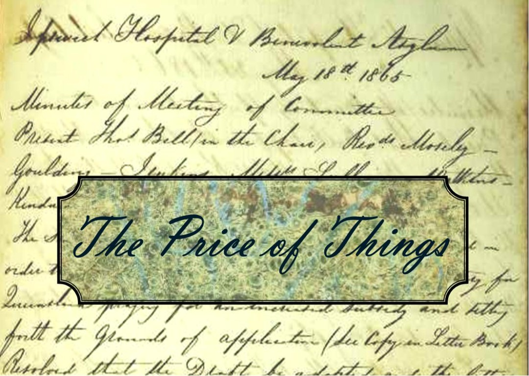 Just a minute in the 1860s: The Price of Things