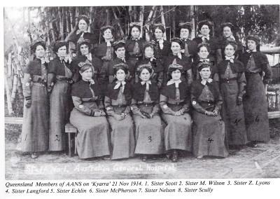 ANZAC day commemoration:  Our Nurses